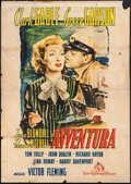 "Movie Posters:Romance, Adventure (MGM, Late 1940s). First Post-War Release Italian 4 - Foglio (54.5"" X 77.25""). Romance.. ..."