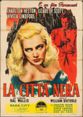 "Movie Posters:Crime, Dark City (Paramount, 1950). Italian 4 - Foglio (55"" X 77.25"").Crime.. ..."