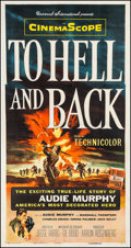 """Movie Posters:War, To Hell and Back (Universal International, 1955). Three Sheet(41.25"""" X 78.75""""). War.. ..."""