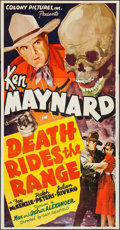Movie Posters:Western, Death Rides the Range (Colony Pictures, 1939). Thr...