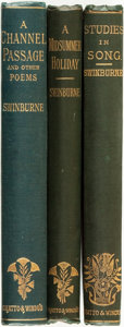 Books:Literature Pre-1900, Algernon Charles Swinburne. Three First Editions. London: Chatto& Windus, 1880-1904.... (Total: 3 Items)