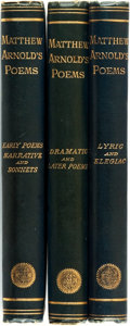 Books:Literature Pre-1900, Matthew Arnold. Poems By Matthew Arnold. Early Poems, NarrativePoems, and Sonnets [together with:] Lyri... (Total: 3Items)