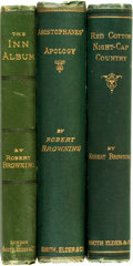 Books:Literature Pre-1900, Robert Browning. Group of Three Books of Poetry by Robert Browning.London: Smith, Elder, & Co., 1873-1875. ... (Total: 3 Items)