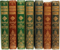 "Books:Literature Pre-1900, [Alfred Tennyson, et al.] Seven Volumes from the ""Moxon's MiniaturePoets"" Series. London: Edwards Moxon & Co., 1865 and 186...(Total: 7 Items)"