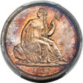 Proof Seated Dimes, 1837 10C No Stars, Large Date, F-101, R.7, PR63 PCGS....