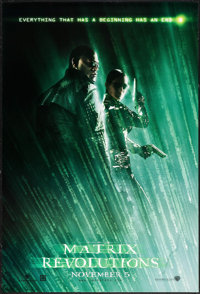 "The Matrix Revolutions (Warner Brothers, 2003). One Sheets (5) (27"" X 40"") DS Advances & SS Hologram Advan..."