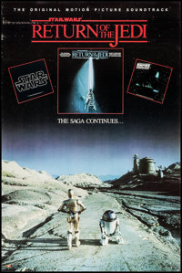 """Return of the Jedi (PolyGram Records, 1983). Soundtrack Poster (22"""" X 33"""") and Commercial Poster (22"""" X 3..."""
