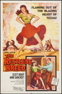 """The Restless Breed & Others Lot (20th Century Fox, 1957). One Sheets (5) (27"""" X 41""""). Western. ... (To..."""