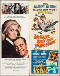 """McHale's Navy Joins the Air Force & Others Lot (Universal, 1965). Inserts (2) (14"""" X 36""""), One Sheets (10)..."""