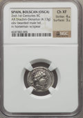 Ancients:Greek, Ancients: IBERIA. Osca. Ca. 150-100 BC. AR denarius (4.13 gm)....
