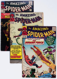 The Amazing Spider-Man Group of 9 (Marvel, 1964-70) Condition: Average FN-.... (Total: 9 Comic Books)