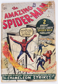 The Amazing Spider-Man #1 Incomplete (Marvel, 1963) Condition: PR