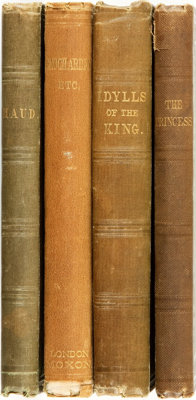 [Featured Lot]. Alfred Tennyson. Group of Four First Editions. London: Edward Moxon, 1847-1864