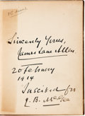 Books:Literature Pre-1900, James Lane Allen. INSCRIBED. A Kentucky Cardinal. A Story.New York: Harper & Brothers, 1895....