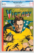 Golden Age (1938-1955):Superhero, Major Victory Comics #2 (H. Clay Glover Company, 1945) CGC VF+ 8.5 Cream to off-white pages....