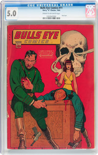 Bulls-Eye Comics #11 (Harry 'A' Chesler, 1944) CGC VG/FN 5.0 Cream to off-white pages