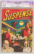 Golden Age (1938-1955):Horror, Suspense Comics #1 Cover Trimmed (Continental Magazines, 1943) CGCApparent GD/VG 3.0 Extensive (P) Off-white pages....