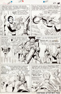 Original Comic Art:Panel Pages, Jack Kirby and Dick Ayers Avengers #8 Story Page 17 OriginalArt (Marvel, 1964)....