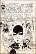Original Comic Art:Covers, Wally Wood Daredevil #9 Cover Original Art (Marvel,1965)....