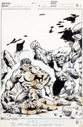 Original Comic Art:Covers, Jeff Aclin and Duffy Vohland Mighty World of Marvel #199Hulk Cover Original Art (Marvel UK, 1976)....