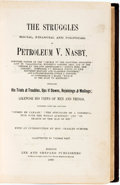 Books:Literature Pre-1900, [David Ross Locke]. Thomas Nast, illustrator. The Struggles(Social, Financial and Political) of Petroleum V. Nasby...