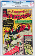 Silver Age (1956-1969):Superhero, The Amazing Spider-Man #14 (Marvel, 1964) CGC VF 8.0 Off-white to white pages....