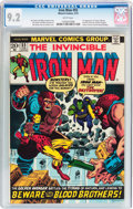 Bronze Age (1970-1979):Superhero, Iron Man #55 (Marvel, 1973) CGC NM- 9.2 White pages....