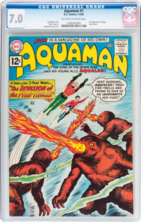 Aquaman #1 (DC, 1962) CGC FN/VF 7.0 Off-white to white pages