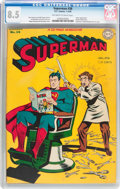 Golden Age (1938-1955):Superhero, Superman #38 (DC, 1946) CGC VF+ 8.5 Off-white to white pages....