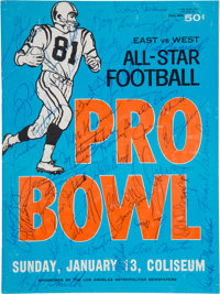 1963 National Football League Pro Bowl Team Signed Program, With Lombardi - Jerry Kramer Collection
