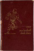 Football Collectibles:Others, 1968 Jerry Kramer Signed, Handwritten Desk Diary....