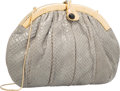 "Luxury Accessories:Bags, Judith Leiber Slate Gray Python Evening Bag. Very GoodCondition. 12"" Width x 8.5"" Height x 2"" Depth. ..."