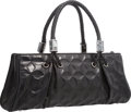 """Luxury Accessories:Bags, Judith Leiber Black Embossed Leather Tote Bag. Good to Very GoodCondition. 16"""" Width x 7"""" Height x 4"""" Depth. ..."""