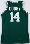 Basketball Collectibles:Uniforms, Bob Cousy Signed Boston Celtics Jersey....