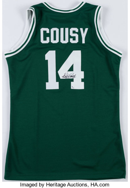 3f3c4dbef Bob Cousy Signed Boston Celtics Jersey.... Basketball Collectibles ...