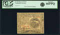 Colonial Notes:Continental Congress Issues, Continental Currency May 9, 1776 $4 Fr. CC-34. PCGS Gem New 66PPQ.....