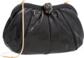 "Luxury Accessories:Bags, Judith Leiber Black Karung Evening Bag. Good to Very GoodCondition. 9"" Width x 5"" Height x 2"" Depth. ..."