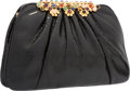"Luxury Accessories:Bags, Judith Leiber Black Lizard Evening Bag. Excellent Condition.10"" Width x 6.5"" Height x 1.5"" Depth. ..."
