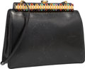 "Luxury Accessories:Bags, Judith Leiber Black Lizard Clutch Bag. Very Good Condition.10"" Width x 7"" Height x 3"" Depth. ..."