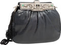 "Luxury Accessories:Bags, Judith Leiber Black Lizard Evening Bag. Very Good to ExcellentCondition. 8"" Width x 5"" Height x 2"" Depth. ..."