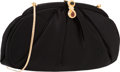 "Luxury Accessories:Bags, Judith Leiber Black Ruched Satin Evening Bag. ExcellentCondition. 9"" Width x 5"" Height x 1"" Depth. ..."