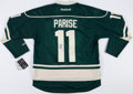 Hockey Collectibles:Uniforms, Zach Parise Signed Minnesota Wild Jersey....
