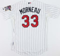 Baseball Collectibles:Uniforms, Justin Morneau Signed Minnesota Twins Jersey....