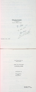Books:Fiction, [Edgar Rice Burroughs]. Pair of Screenplays for Burroughs' APrincess of Mars, Including One INSCRIBED. 1987 - 1... (Total:2 Items)