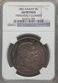 Coins of Hawaii , 1883 $1 Hawaii Dollar -- Improperly Cleaned -- NGC Details. AU. NGC Census: (30/189). PCGS Population (69/208). Mintage: 46...