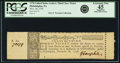 Colonial Notes:Continental Congress Issues, Continental Congress - United States Lottery Resolution of November18, 1776 Class the Third Ticket. PCGS Extremely Fine 45 Ap...