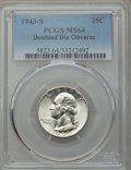 Washington Quarters, 1943-S 25C Doubled Die Obverse, FS-101, MS64 PCGS....