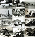 Books:Prints & Leaves, [Carriages]. Archive of Approximately Thirty-Eight PhotographsDepicting Horse-Drawn Carriages. ...