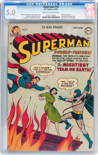 Superman #76 (DC, 1952) CGC VG/FN 5.0 Cream to off-white pages