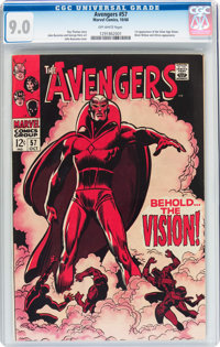 The Avengers #57 (Marvel, 1968) CGC VF/NM 9.0 Off-white pages